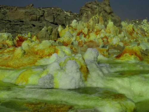 BEST NATIONAL PARKS IN THE WORLD: TOP 10 MOST VISITED WORLDWIDE: Sulphur hot springs in Ethiopia.