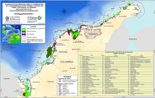 BEST NATIONAL PARKS OF COLOMBIA LISTS ALL PROTECTED AREAS: MAP CARIBBEAN PARKS