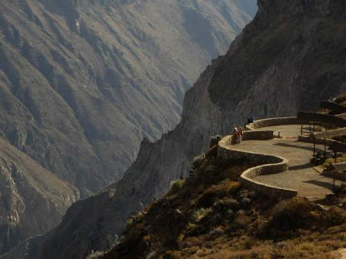 NATIONAL PARKS OF PERU [WHICH ARE BEST]: Colca Canyon: Lower overlook.