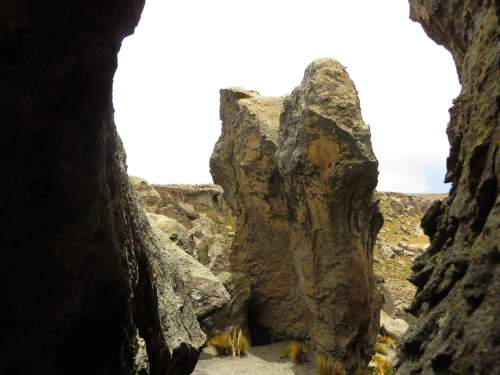 NATIONAL PARKS OF PERU [WHICH ARE BEST]: Salinas & Aguada Blanca National Reserve: Hoodoo rock.